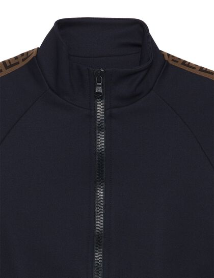 Tracksuit Jacket Polyester Logo Piping Shoulders Arms